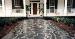 Charcol Grey Paved Walkway