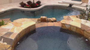 Crab Flag Pool Stone Work