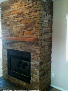 High Country Stone finsihed fireplace