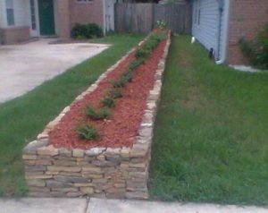 Raised Bed Garden with Stone