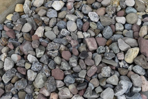 COLORFUL RIVER ROCK/GRAVEL
