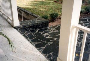 Charcol Grey Paved Walkway