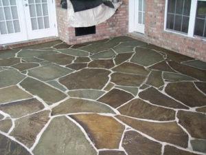 Large Flat Stone Patio